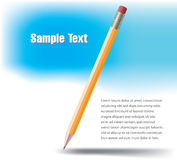 Yellow wooden pencil Royalty Free Stock Photography