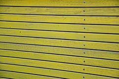 Yellow wooden planks Stock Photos