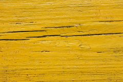 Yellow wooden shield Stock Photography