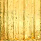 Yellow wooden textured background. Wood planks with old colorful Royalty Free Stock Photos