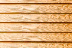 The yellow wooden wall Stock Photography