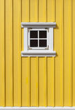 Yellow wooden wall Royalty Free Stock Photos