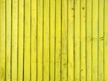 Yellow wooden wall Stock Photos