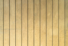 Yellow Wooden wall Stock Image