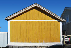 Yellow Wooden Wall Stock Photography