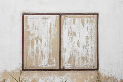Yellow wooden window Stock Image