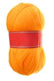 Yellow wool. Image of a yellow wool yarn for knitting Royalty Free Stock Images