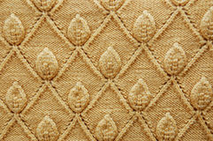 Yellow wool pattern Stock Photo
