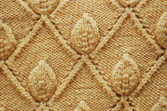 Yellow wool pattern Stock Photos