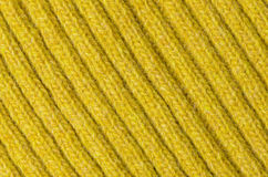 Yellow wool texture Royalty Free Stock Photo