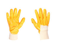 Yellow working glove Royalty Free Stock Photography