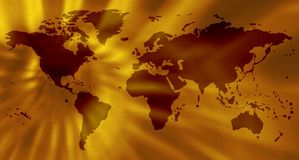 Yellow world map Royalty Free Stock Photography