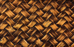 Yellow woven bamboo wicker Stock Photos