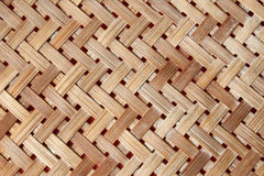 A yellow woven wicker material Royalty Free Stock Photos