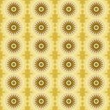 Gift wrap paper with daisy flowers. Yellow wrapping paper with seamless pattern of daisy flowers   digital art Royalty Free Stock Image
