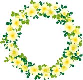Yellow  wreath Royalty Free Stock Image