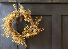 Yellow wreath Stock Photo