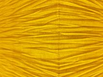 Yellow Wrinkled Paper Background Stock Images