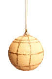 Yellow Xmas ball Royalty Free Stock Photography