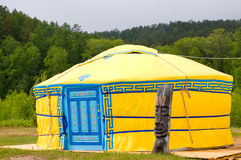 Yellow yurta Stock Photography
