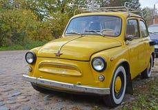 Yellow ZAZ-965 Zaporozhets Royalty Free Stock Image