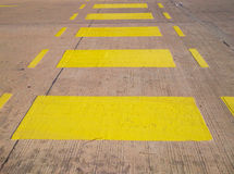 Yellow zebra crossing in the supermarket Stock Images