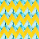 Yellow zigzag seamless pattern. Eps 10 vector file Stock Photography