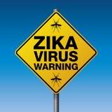 Yellow Zika Virus Warning Sign Illustration Stock Image