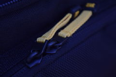 Yellow Zipper. This is the a close up of a zipper from a camera case Royalty Free Stock Image