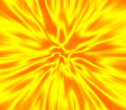 Yellow zoom blur. An abstract zoom/blur background - speeding ahead into an endless vortex Royalty Free Stock Photo