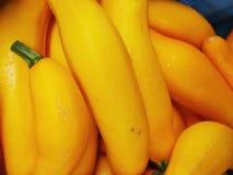 Yellow zucchini market Stock Photo