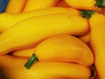 Yellow zucchini market Royalty Free Stock Photo