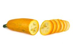 Yellow zucchini sliced ​​thin slices Royalty Free Stock Photography