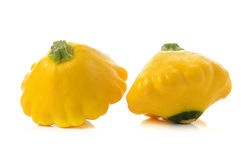 Yellow zucchini on white background Royalty Free Stock Image