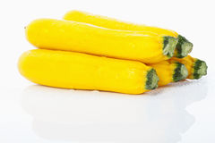Yellow zucchinis Royalty Free Stock Images