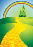 yellowbrickroad stock illustrationer