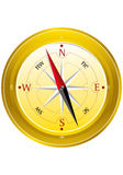 Yellowcompass.eps Foto de Stock