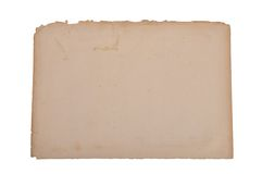 Yellowed papier Obraz Stock