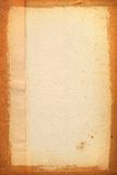Yellowed sheet of paper. Close-up of old yellowed sheet of paper Royalty Free Stock Photography