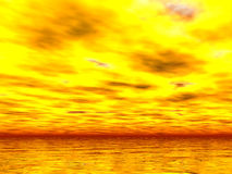 Yellowest Sunset Royalty Free Stock Photos