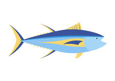 Yellowfin tuna  cartoon illustration. Royalty Free Stock Images