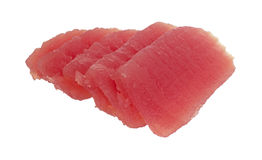 Yellowfin tuna slices Royalty Free Stock Images
