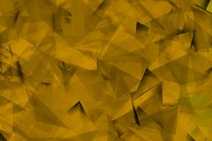Yellowish background with triangles and fine shadows. Backgroud for hot night of summer in yellow color with fine lines Royalty Free Stock Photos