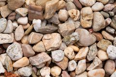 Yellowish-brown and white pebbles Stock Image