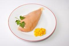 Yellowish chicken breast Stock Photo