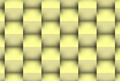Yellowish cubes. Powerful background 3d with visual effect of the shadows.Picture representing purity and solided order Royalty Free Stock Photos