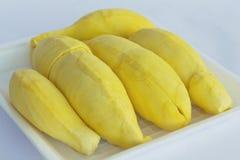 Yellowish durian flesh Stock Photos