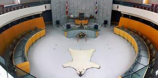 Yellowknife, Assemblée territoriale, Territoires du nord-ouest, Canada images libres de droits