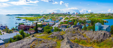 Yellowknife, Canada. Yellowknife in Northwest Territories, Canada stock photography