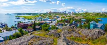 Yellowknife Kanada Arkivbild
